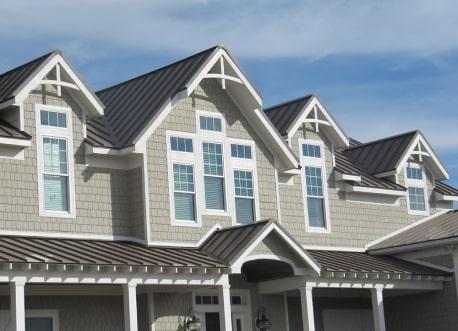 beautiful metal roof on eves