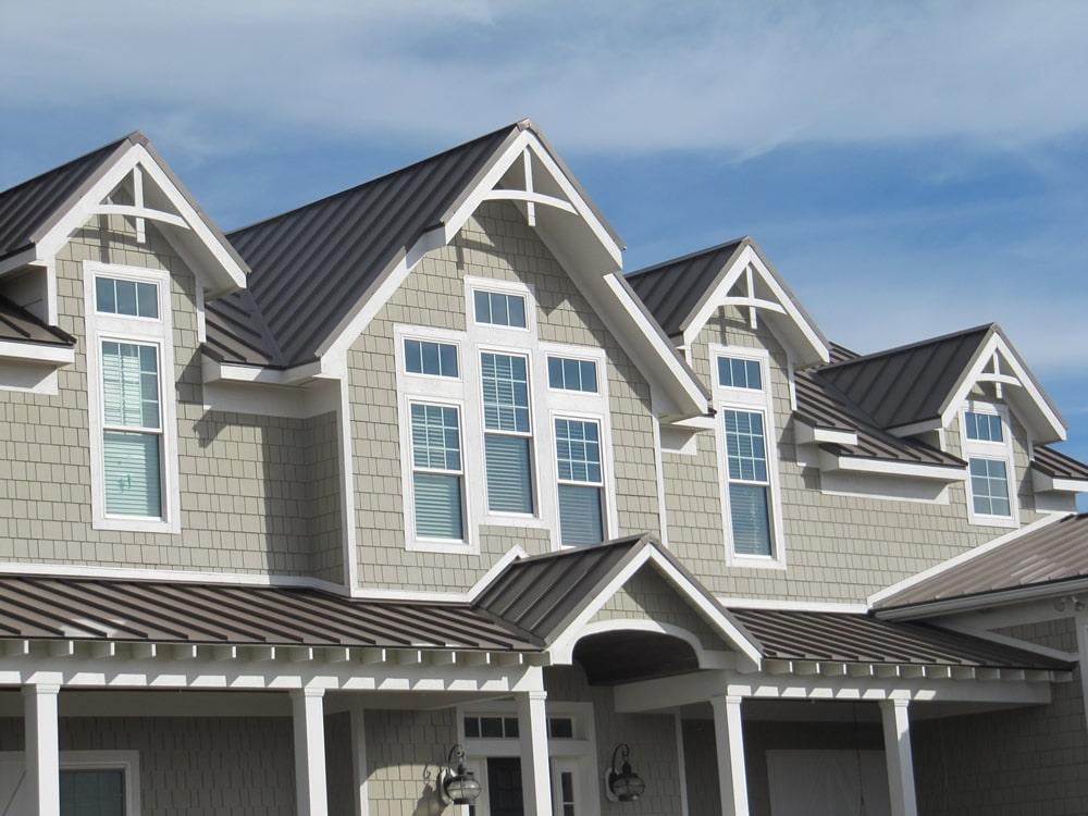 beautiful gray metal roof
